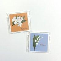 Far East Studio 花のスクエアミニカード